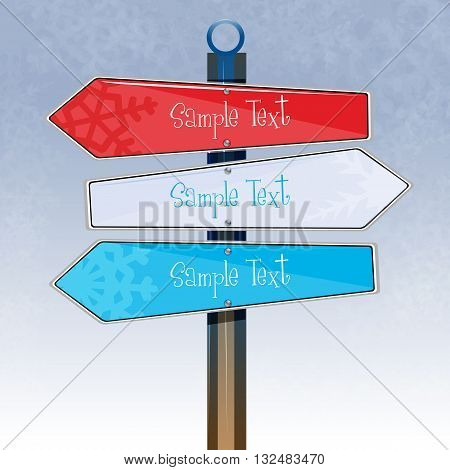 Colorful Direction Board