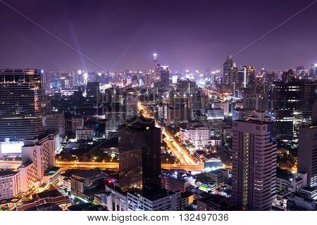 night cityscape in the capital night life - can use to background or postcard or montage on your product