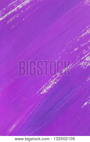 Abstract purple paint brush strokes as a background