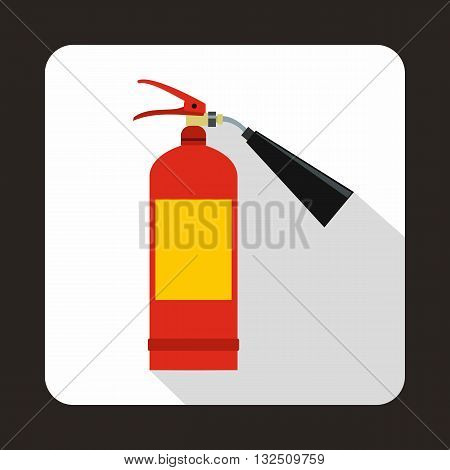 Fire extinguisher icon in flat style on a white background
