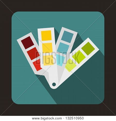 Color palette guide icon in flat style on a blue background
