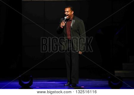 NEW YORK-JAN 12: Alfonso Ribeiro hosts the Dancing with the Stars: Live! Tour at the Beacon Theatre on January 15, 2015 in New York City.