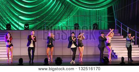 NEW YORK-JAN 12: The cast performs at Dancing with the Stars: Live! Tour at the Beacon Theatre on January 15, 2015 in New York City.