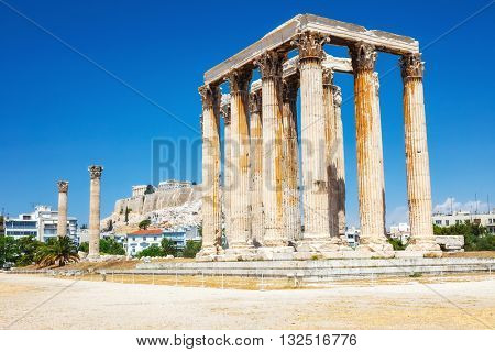 Ancient Temple of Zeus Olympeion, Athens, Greece