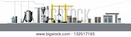 Vector illustration of a automatic production line