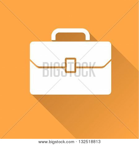 Business case icon with long shadow. Vector illustration