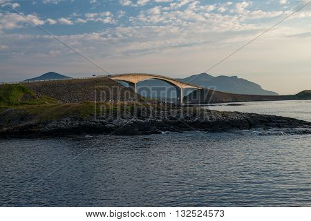 Atlantic Road (Atlanterhavsvegen) in Norway. This is the one of the most scenic roads in the whole world