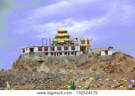 Little Tibet. Monastery in the city Lech.