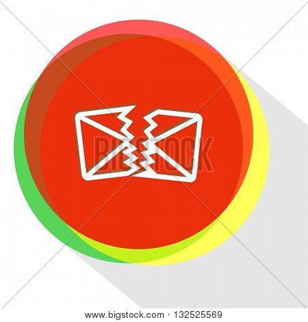 defective mail. Internet template. Vector icon.
