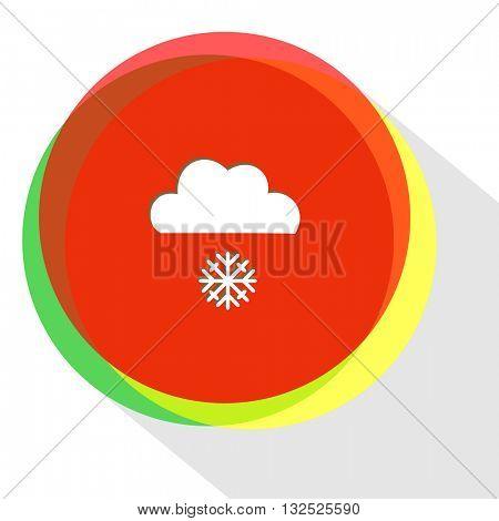 snowfall. Internet template. Vector icon.
