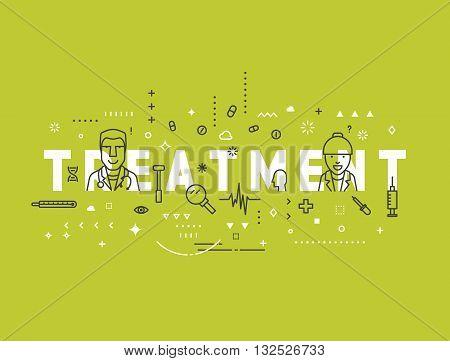 Medicine concept design treatment. Creative design elements for websites, mobile apps and printed materials. Medicine banner design