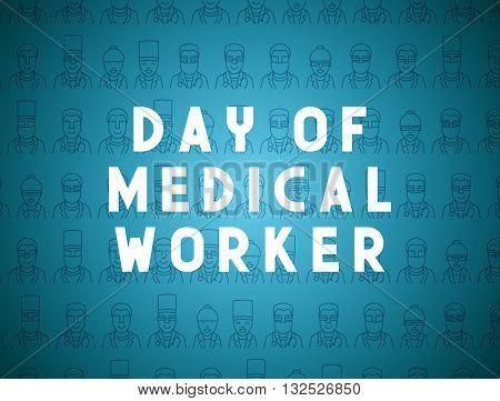Medicine concept design day of medical worker. Creative design elements for websites, mobile apps and printed materials. Medicine banner design