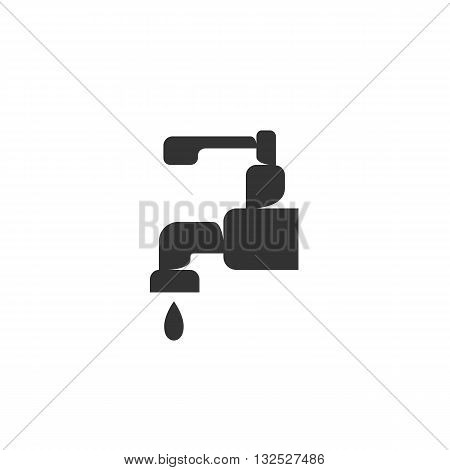 Water tap icon on white background. Water tap logo element for template. Modern vector pictogram for web graphics. Flat design style. Vector illustration. - stock vector