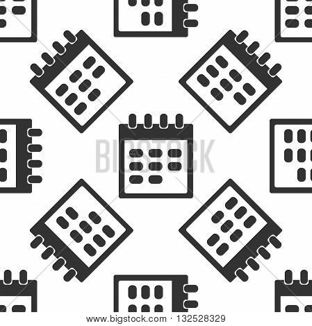 Calendar icon pattern on white background. Vector illustration