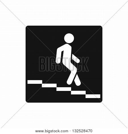 Underpass road sign icon in simple style isolated on white background