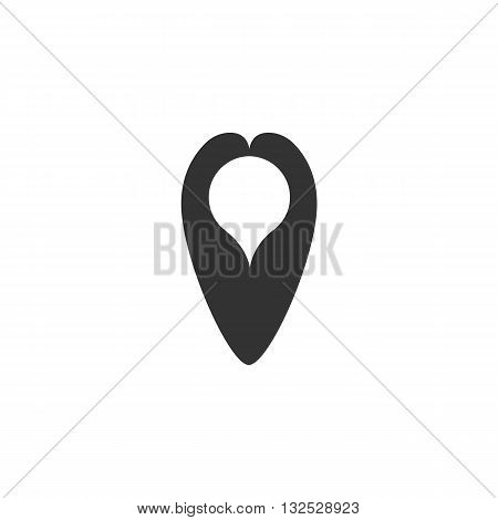 Pin icon on white background. Pin vector logo. Flat design style. Modern vector pictogram for web graphics. - stock vector