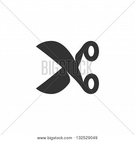 Scissors icon on white background. Scissors vector logo. Flat design style. Modern vector pictogram for web graphics. - stock vector