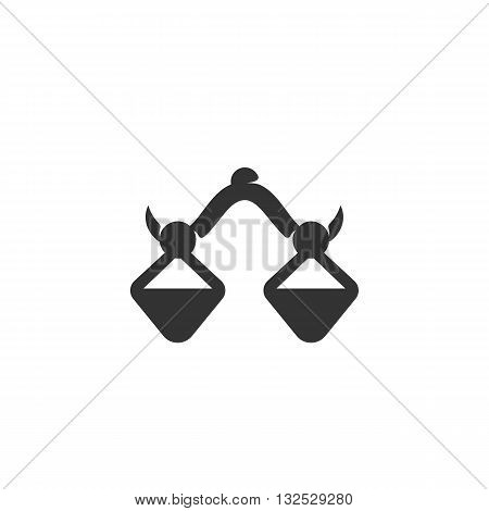 Balance icon on white background. Balance logo element for template. Modern vector pictogram for web graphics. Flat design style. Vector illustration. - stock vector