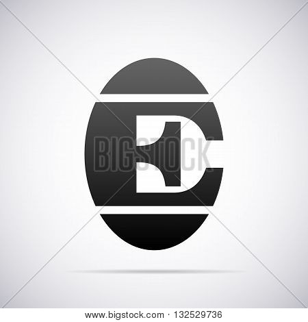 Logo for letter E design template vector illustration