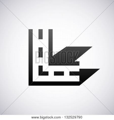 Logo for letter L design template vector illustration