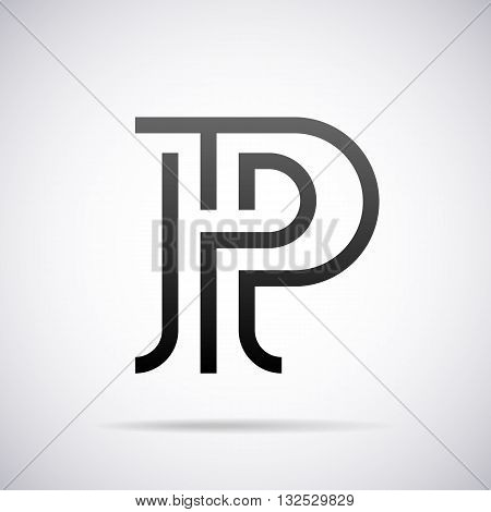 Logo for letter P design template vector illustration