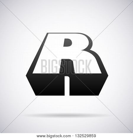 Logo for letter R design template vector illustration