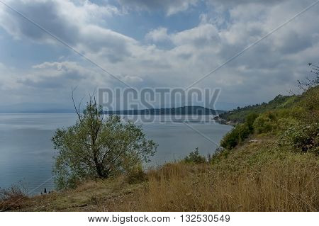 View to part of Ogosta dam, Balkan mountain, Bulgaria