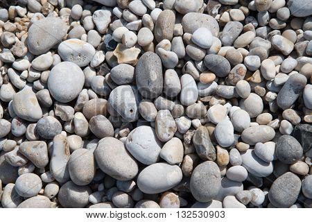 Pebbles backgrund from alabaster coast of Normandy