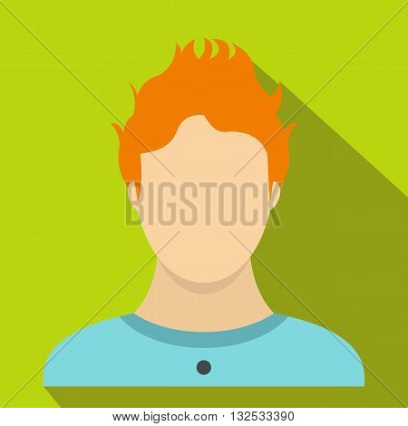 Boy icon in flat style for any design