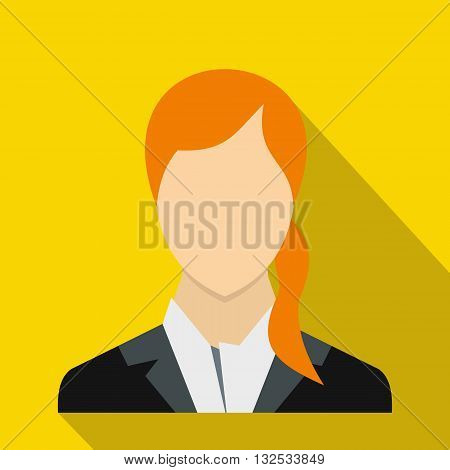 Woman icon in flat style for any design
