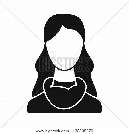 Woman icon in simple style isolated on white background