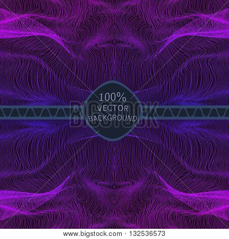 Abstract purple Lines on Dark Background. Moving Colorful Lines Abstract Background for Party Posters / Covers / Presentations / Brochures. Vector Illustration.