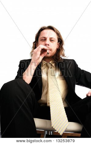 Man Smoking Marijuana