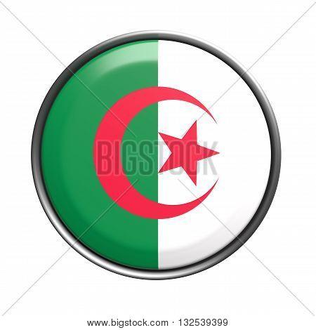 Silhouette Of Algeria Button