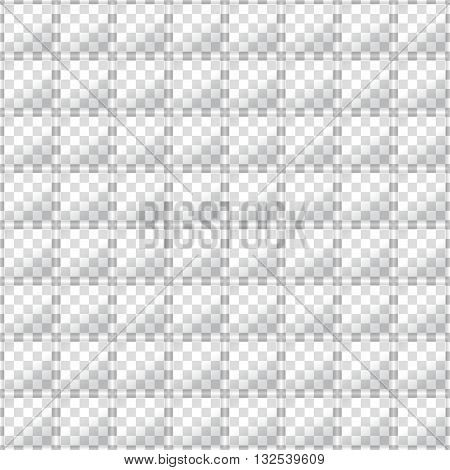 Glass squares on opacity grid background. Seamless vector texture. Technology seamless pattern. Vector geometric background.