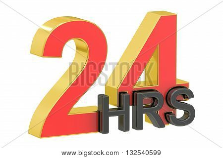 24hrs concept 3D rendering isolated on white background