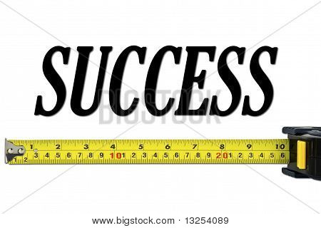 Success Concept With Tape Measure