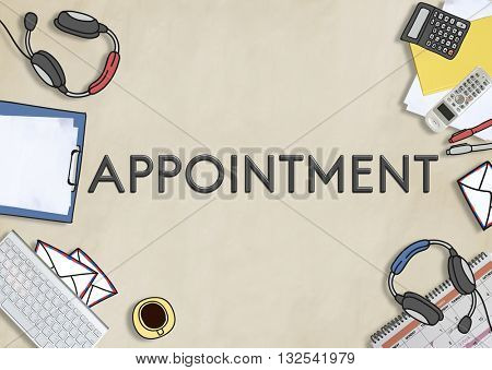 Appointment Agenda Meeting Arrangement Concept