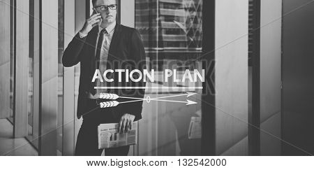 Action Plan Planning Goal Strategy Concept