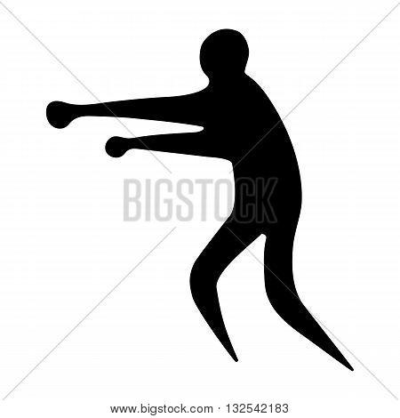 Sportsman man boxer on a white background flat icon