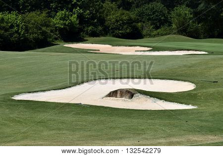 Golf Course Sand Trap background at Georgia,  USA.