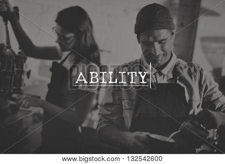 Ability Skilled Talent Excellence Accomplishment Achievement Concept