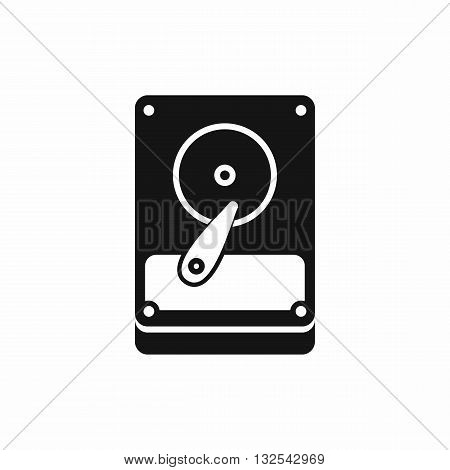 HDD icon in simple style isolated on white background