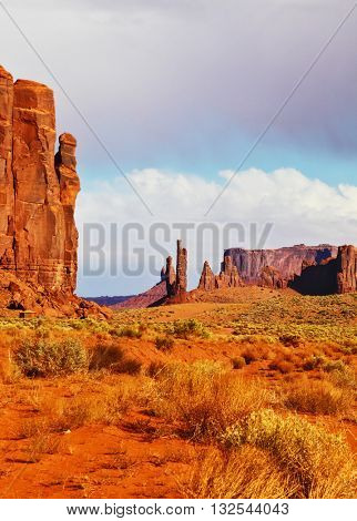 The unique red sandstone buttes