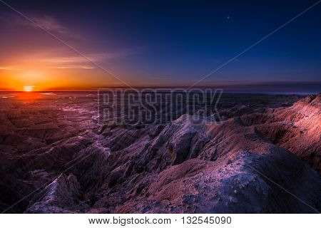 Sunrise In Badlands National Park