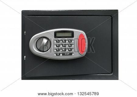 image of safety deposit box isolated on white background