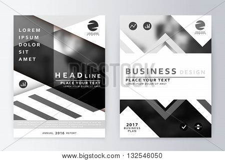 Gray annual Report Brochure. A4 Vector. Annual report design of the first and last page . Business brochure. Catalog Cover. Cover design Report Annual. sover design Report. Business sover design.