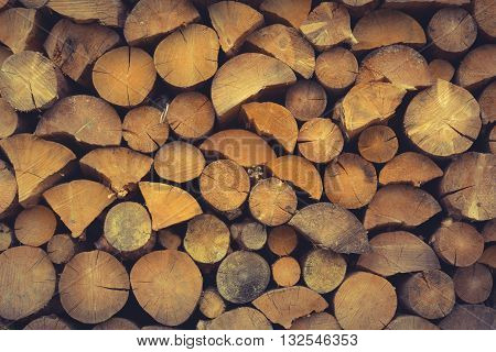 Cut Wooden Planks Background