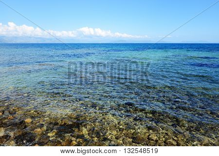 The beach on a Corfu island Greece