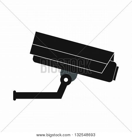 Surveillance camera icon in simple style isolated on white background